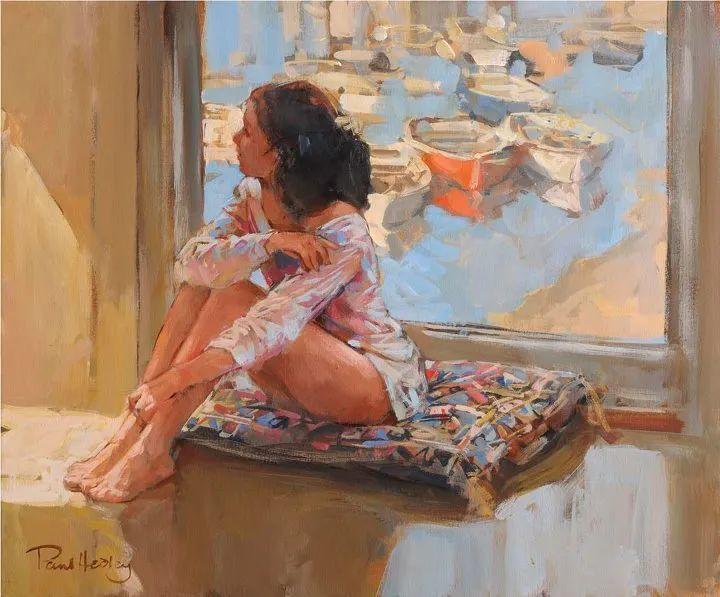自然光与美人,英国画家保罗·赫德利插图39