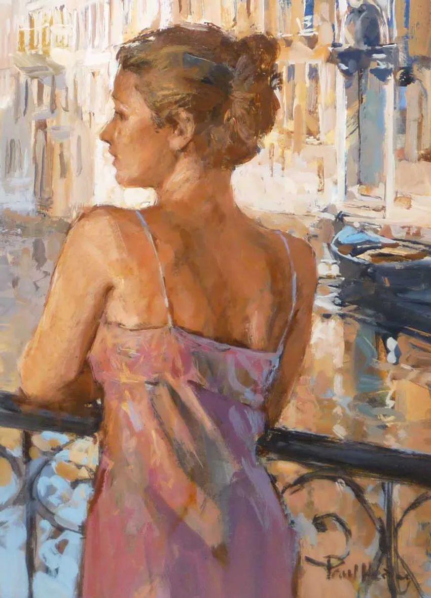 自然光与美人,英国画家保罗·赫德利插图41