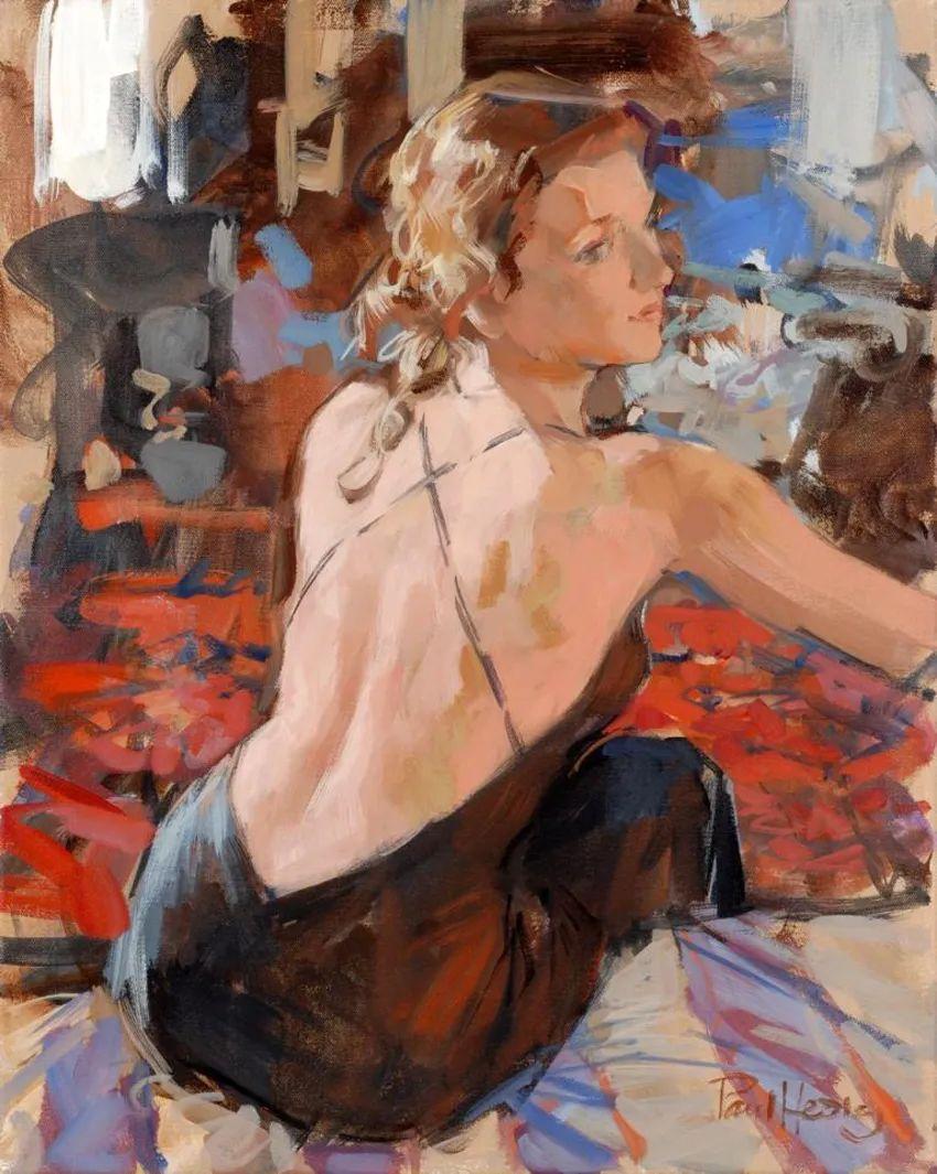 自然光与美人,英国画家保罗·赫德利插图43