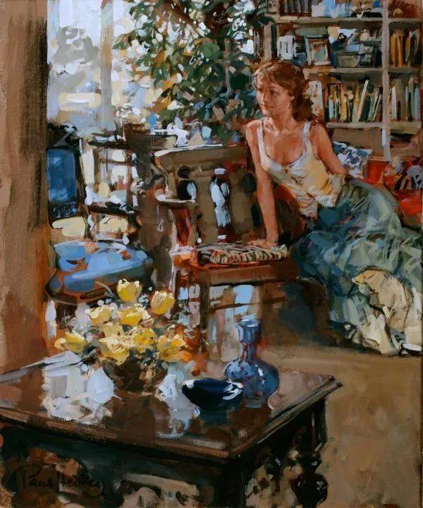 自然光与美人,英国画家保罗·赫德利插图53