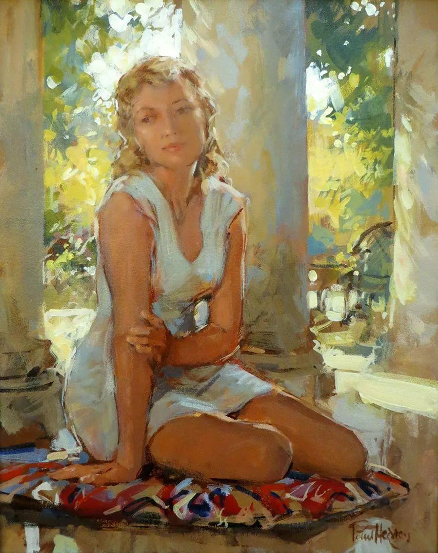 自然光与美人,英国画家保罗·赫德利插图55