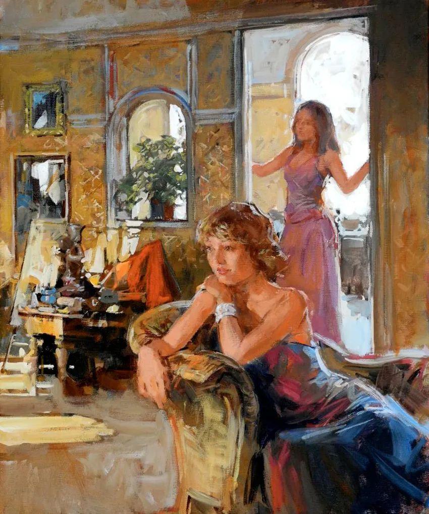 自然光与美人,英国画家保罗·赫德利插图57
