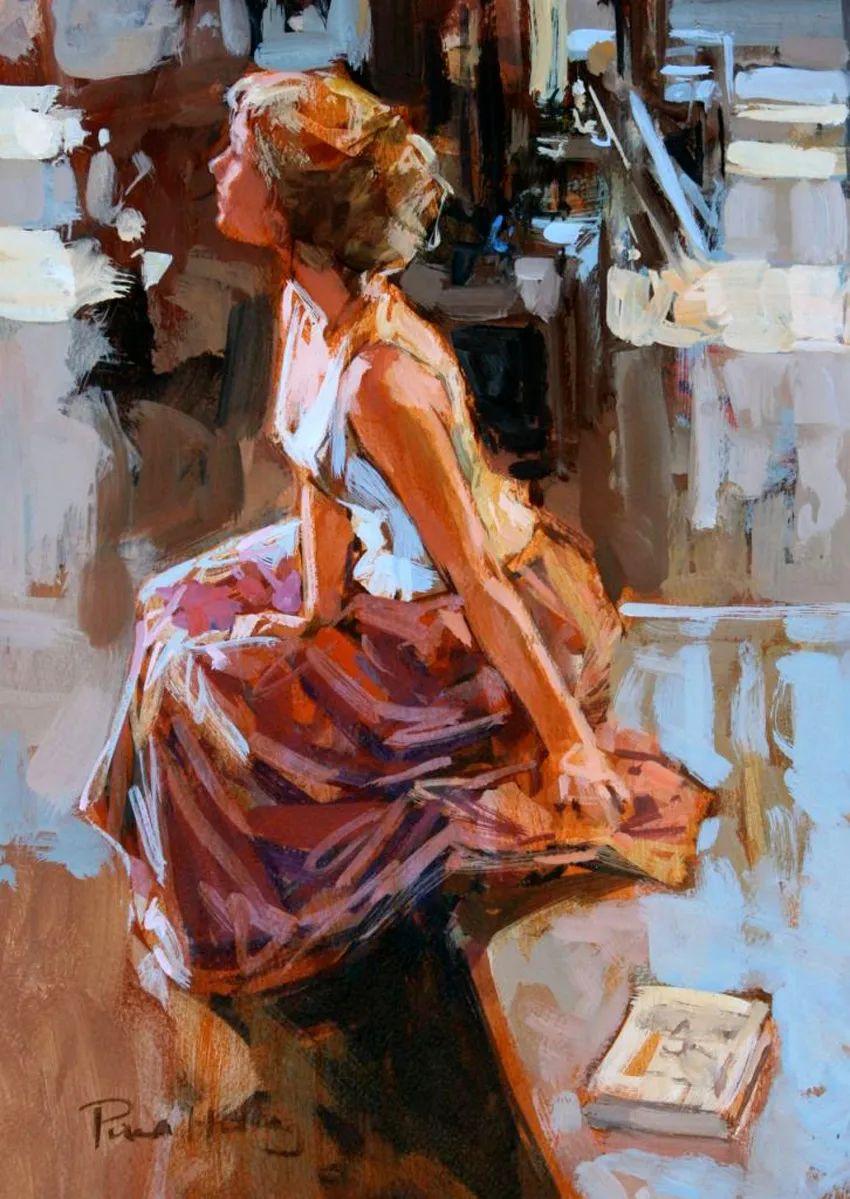 自然光与美人,英国画家保罗·赫德利插图59