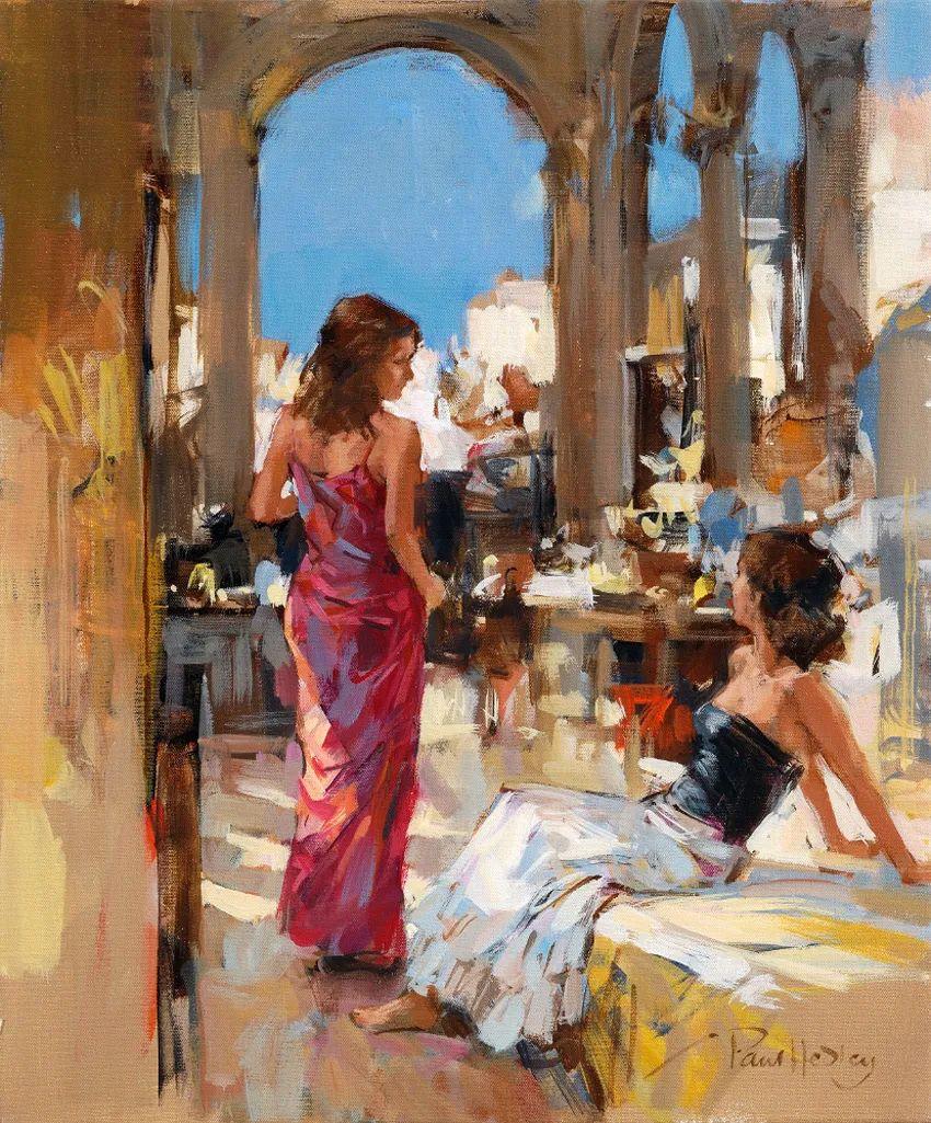 自然光与美人,英国画家保罗·赫德利插图61
