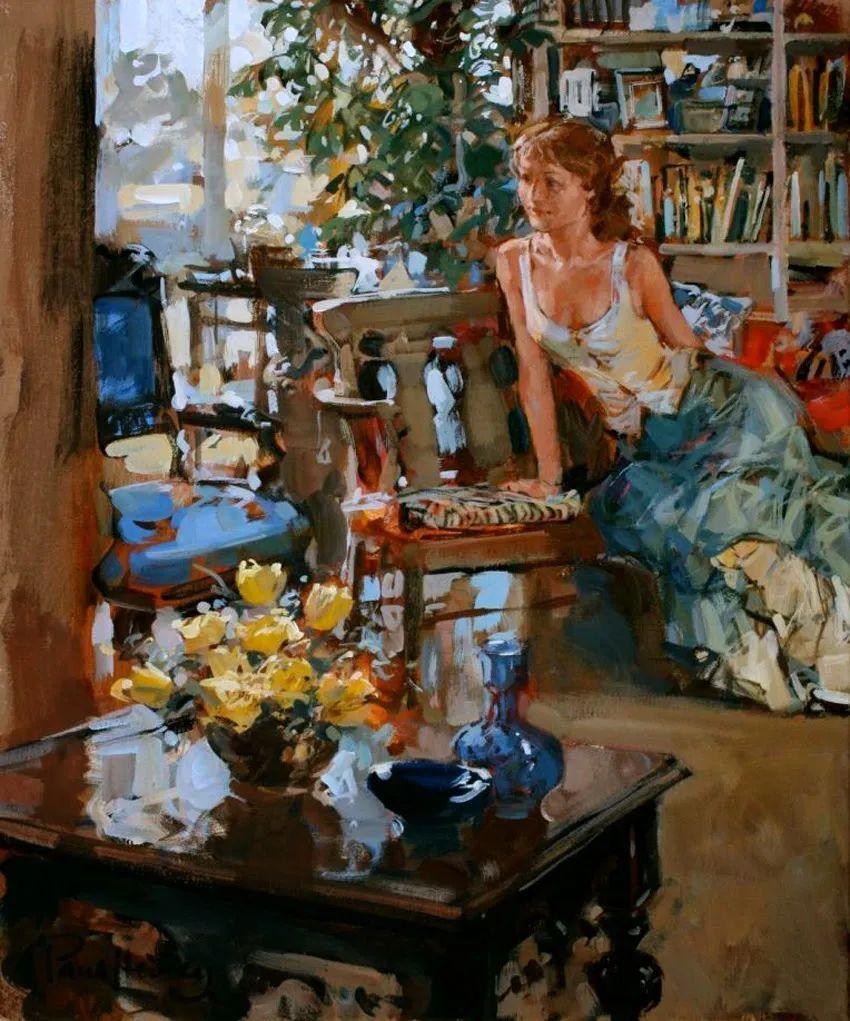 自然光与美人,英国画家保罗·赫德利插图63