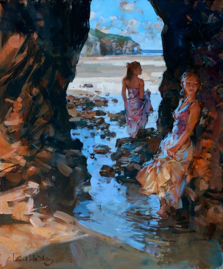 自然光与美人,英国画家保罗·赫德利插图65