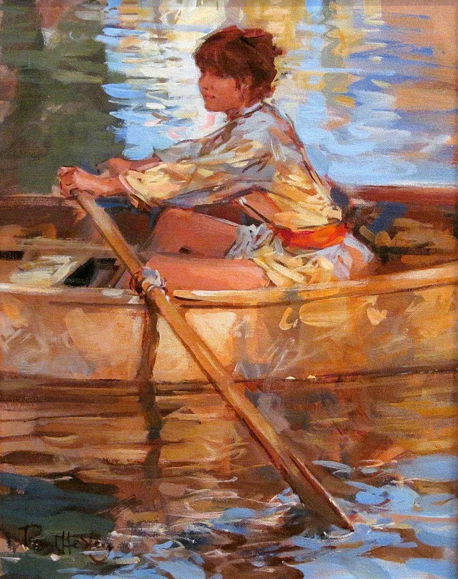 自然光与美人,英国画家保罗·赫德利插图67