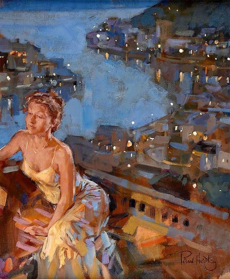 自然光与美人,英国画家保罗·赫德利插图69