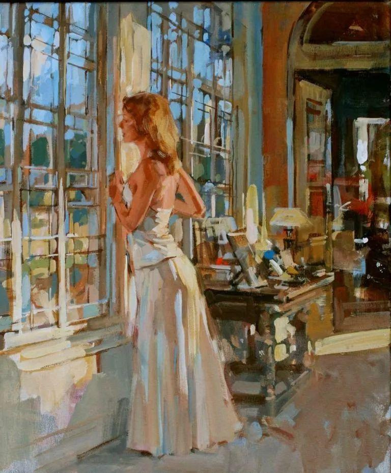 自然光与美人,英国画家保罗·赫德利插图71