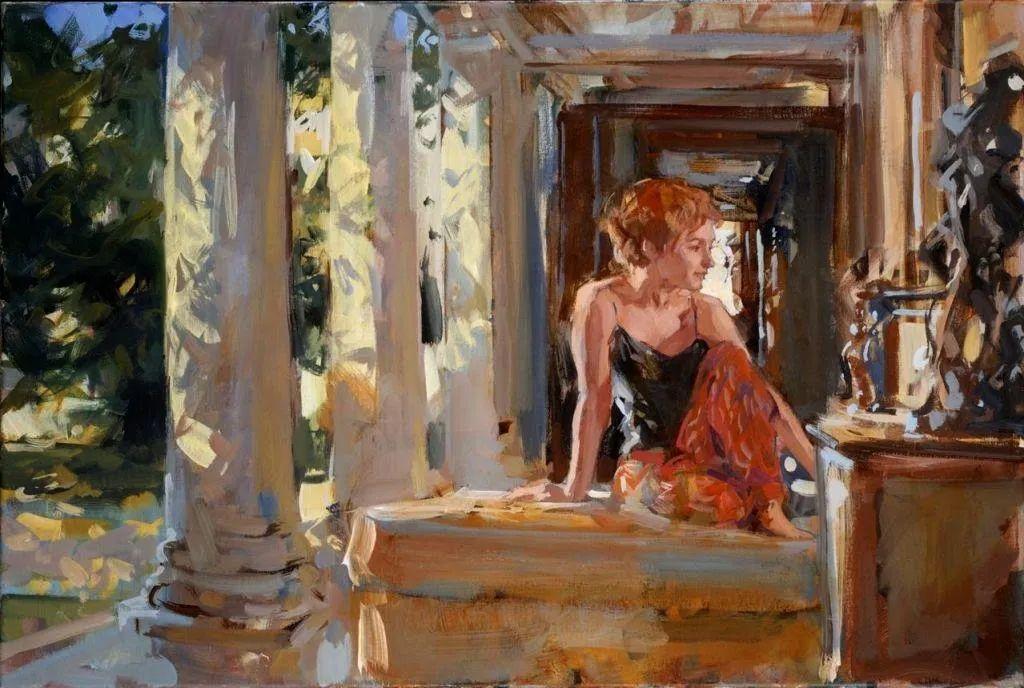 自然光与美人,英国画家保罗·赫德利插图73