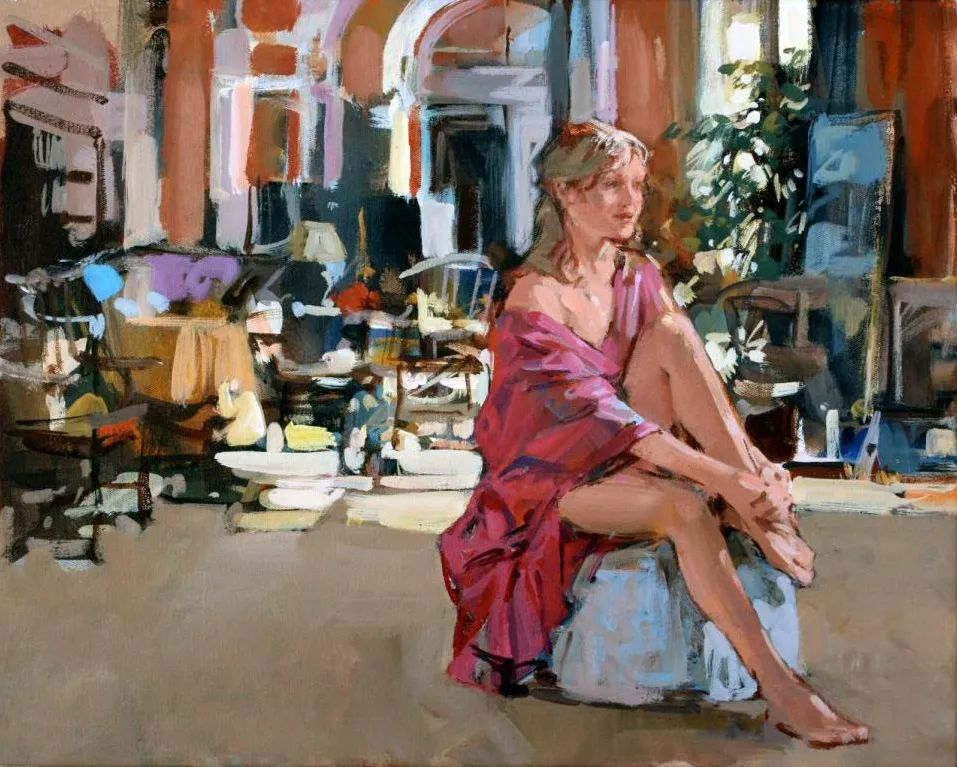 自然光与美人,英国画家保罗·赫德利插图75