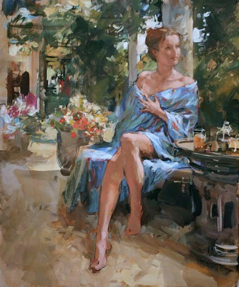 自然光与美人,英国画家保罗·赫德利插图77