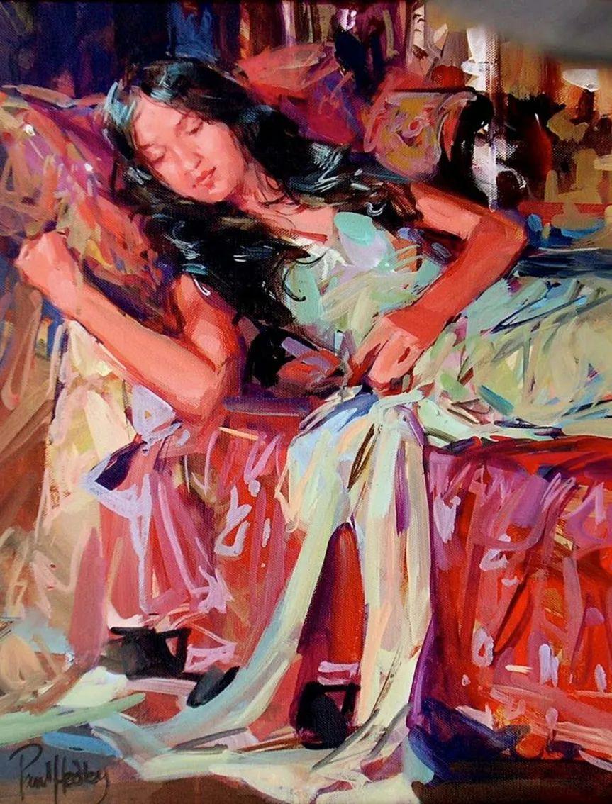 自然光与美人,英国画家保罗·赫德利插图81