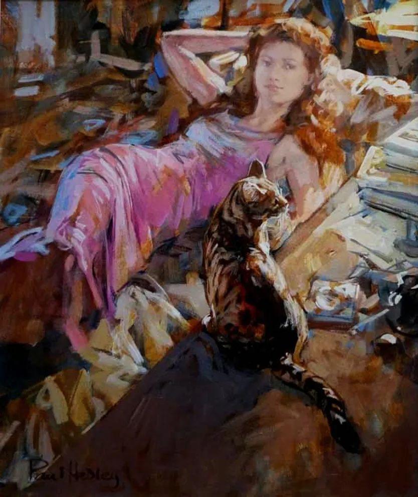 自然光与美人,英国画家保罗·赫德利插图83