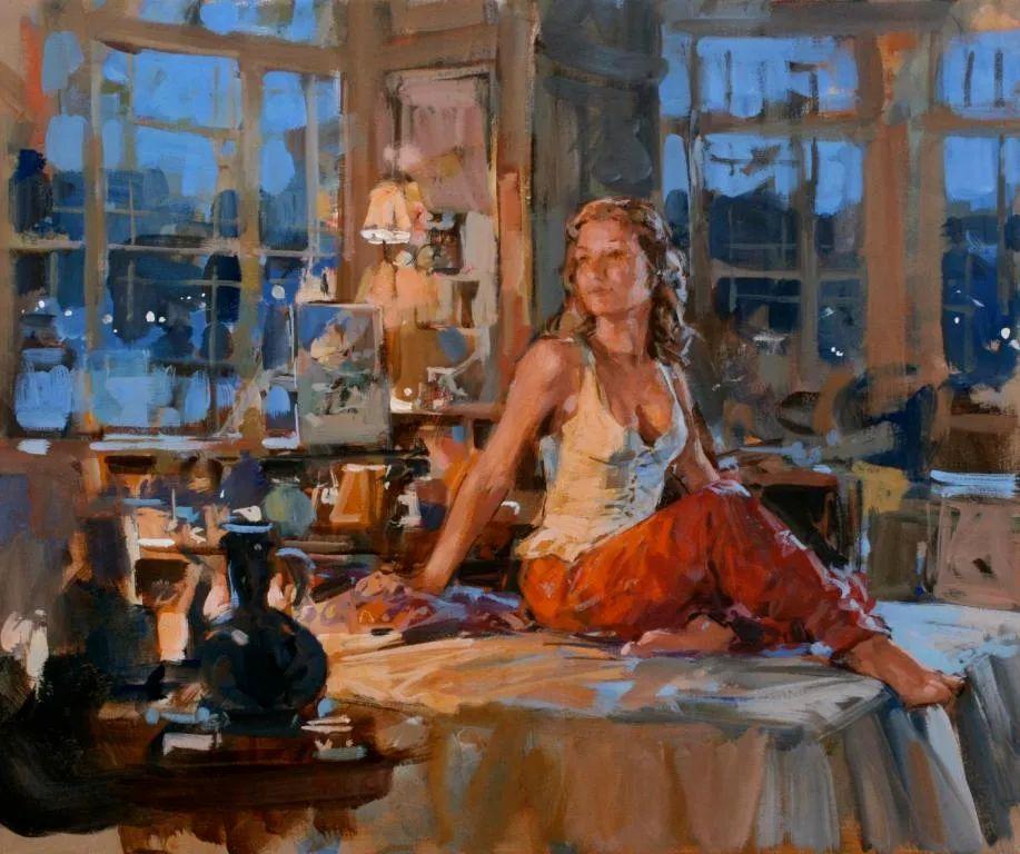 自然光与美人,英国画家保罗·赫德利插图85