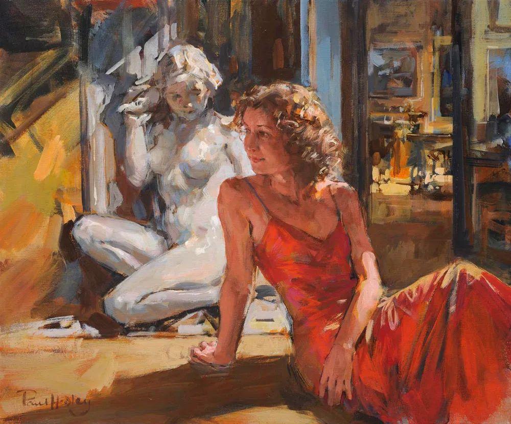 自然光与美人,英国画家保罗·赫德利插图87