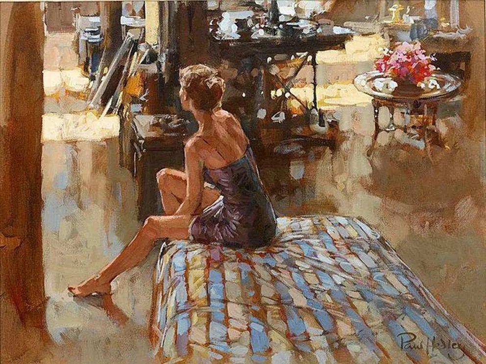 自然光与美人,英国画家保罗·赫德利插图94
