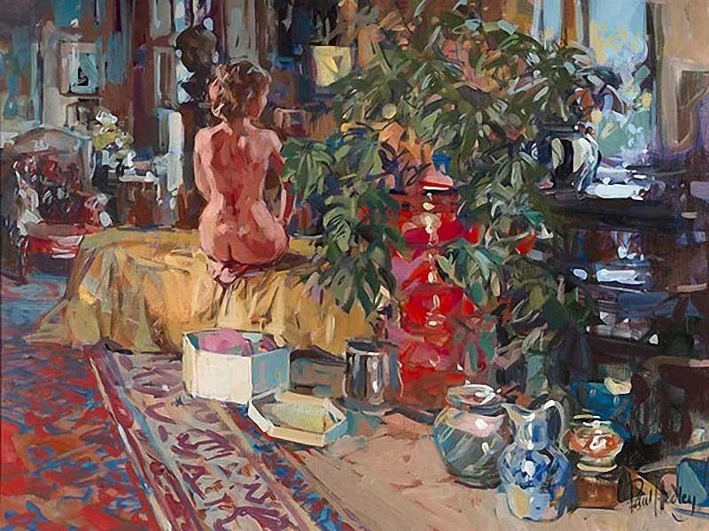 自然光与美人,英国画家保罗·赫德利插图97