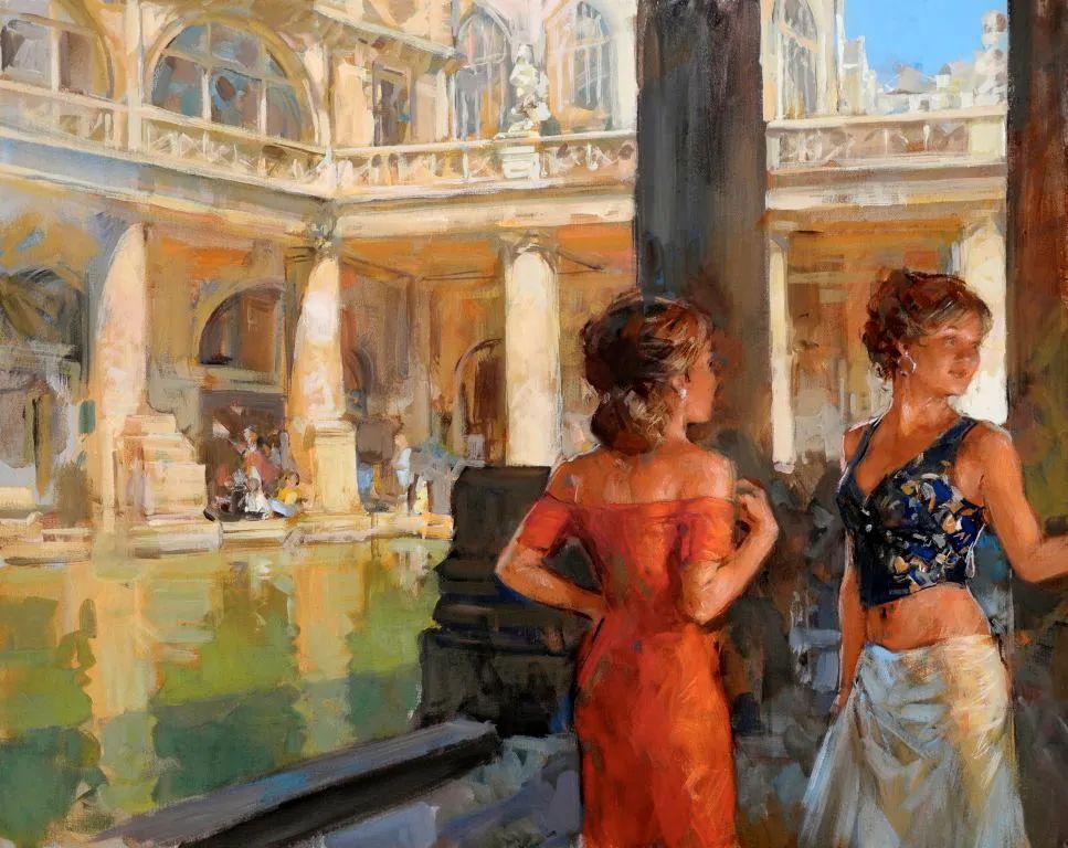 自然光与美人,英国画家保罗·赫德利插图100