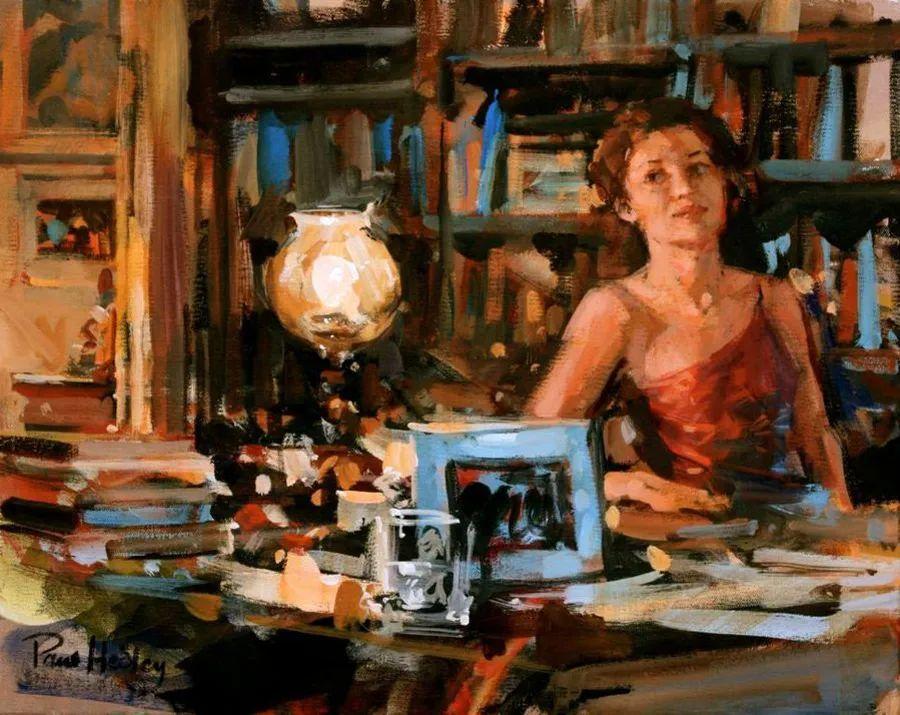 自然光与美人,英国画家保罗·赫德利插图102
