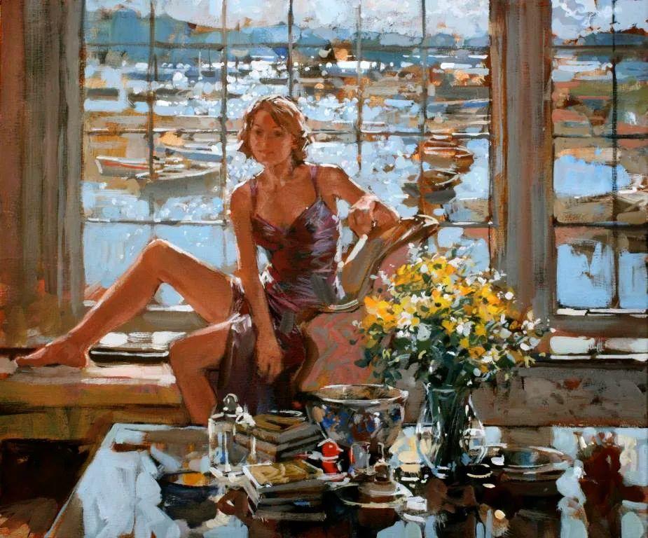 自然光与美人,英国画家保罗·赫德利插图104