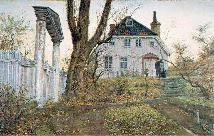 挪威画家Fredrik Thaulow风景画选插图2