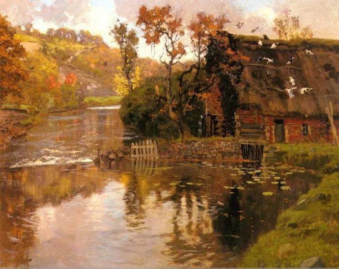 挪威画家Fredrik Thaulow风景画选插图4
