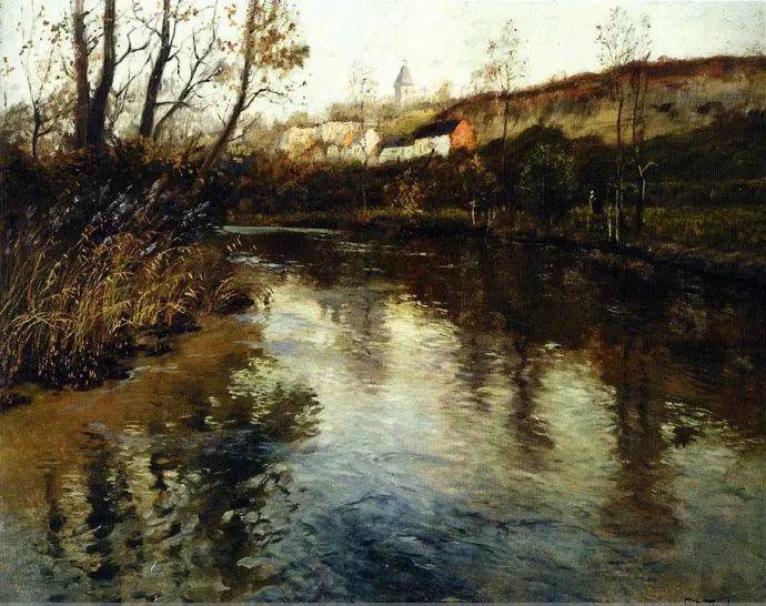 挪威画家Fredrik Thaulow风景画选插图11