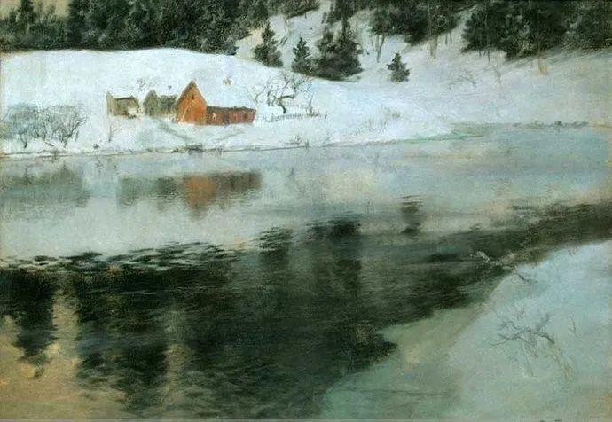 挪威画家Fredrik Thaulow风景画选插图15