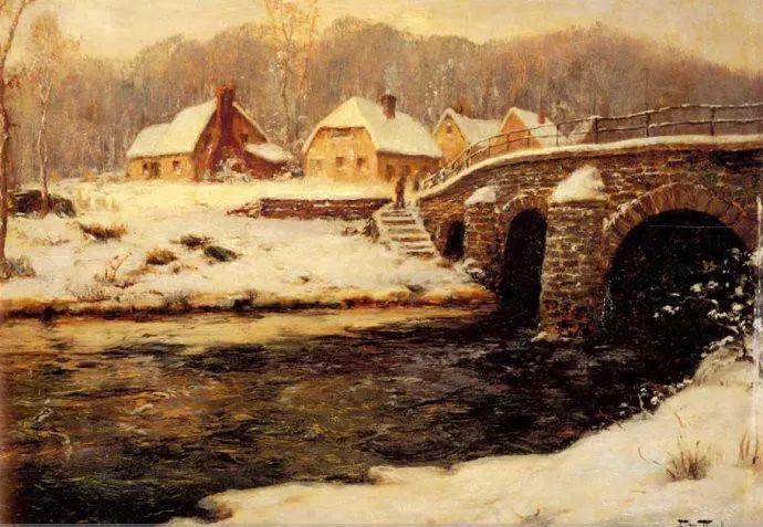 挪威画家Fredrik Thaulow风景画选插图16