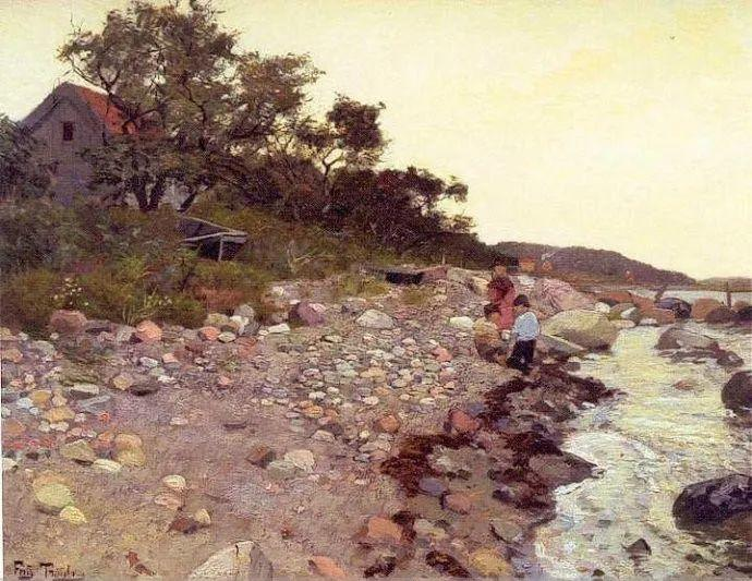 挪威画家Fredrik Thaulow风景画选插图19