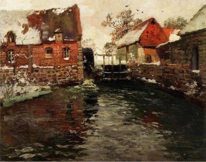 挪威画家Fredrik Thaulow风景画选插图20