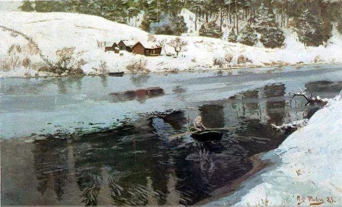 挪威画家Fredrik Thaulow风景画选插图21