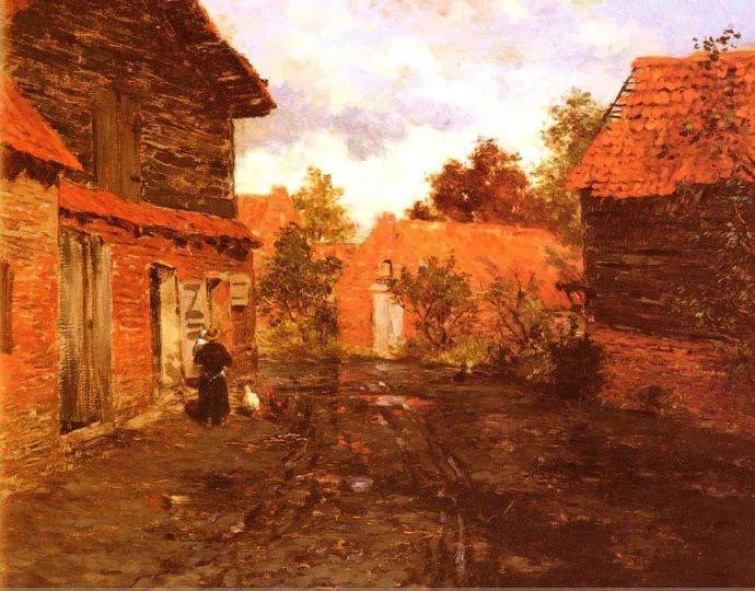 挪威画家Fredrik Thaulow风景画选插图22