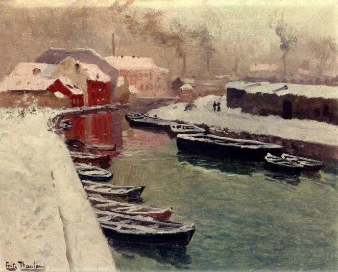 挪威画家Fredrik Thaulow风景画选插图24