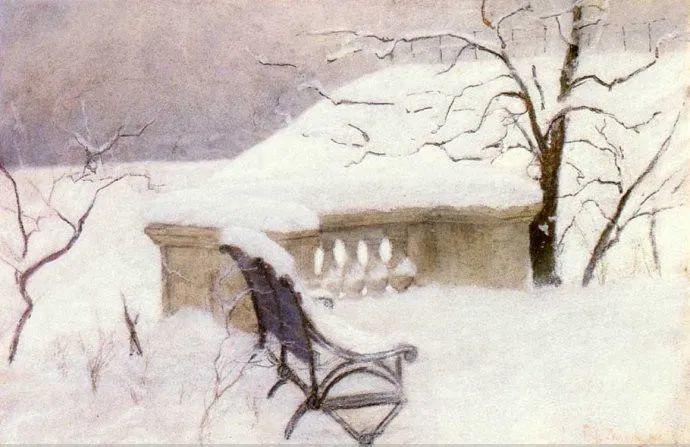 挪威画家Fredrik Thaulow风景画选插图26