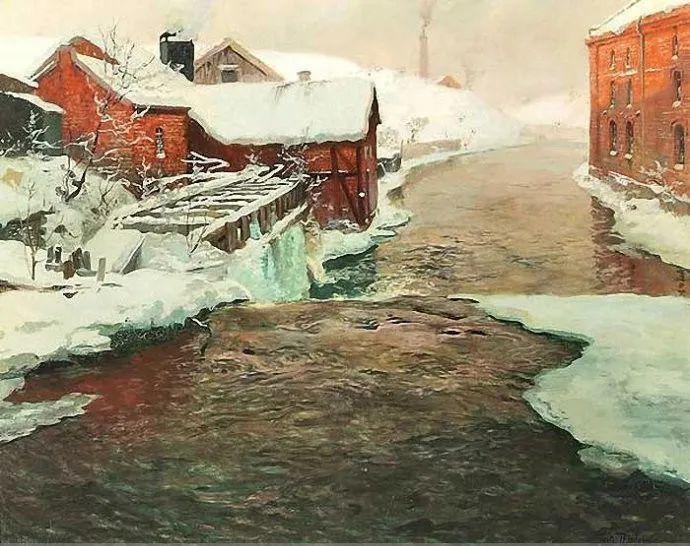 挪威画家Fredrik Thaulow风景画选插图27