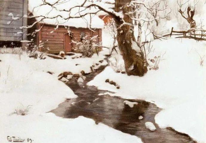 挪威画家Fredrik Thaulow风景画选插图31