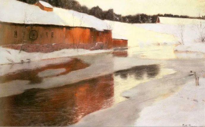 挪威画家Fredrik Thaulow风景画选插图33