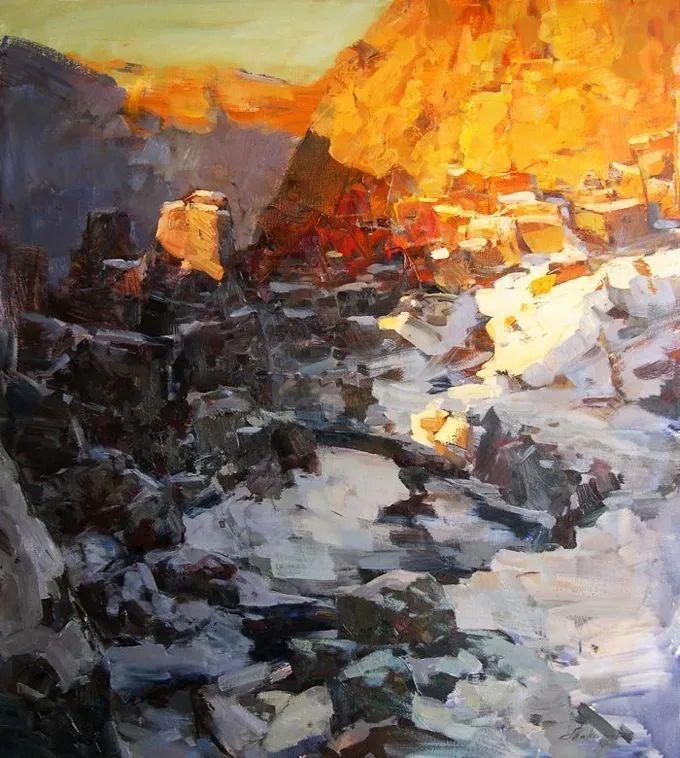 颜色与光:俄罗斯画家Vitaly Makarov作品选 插图125