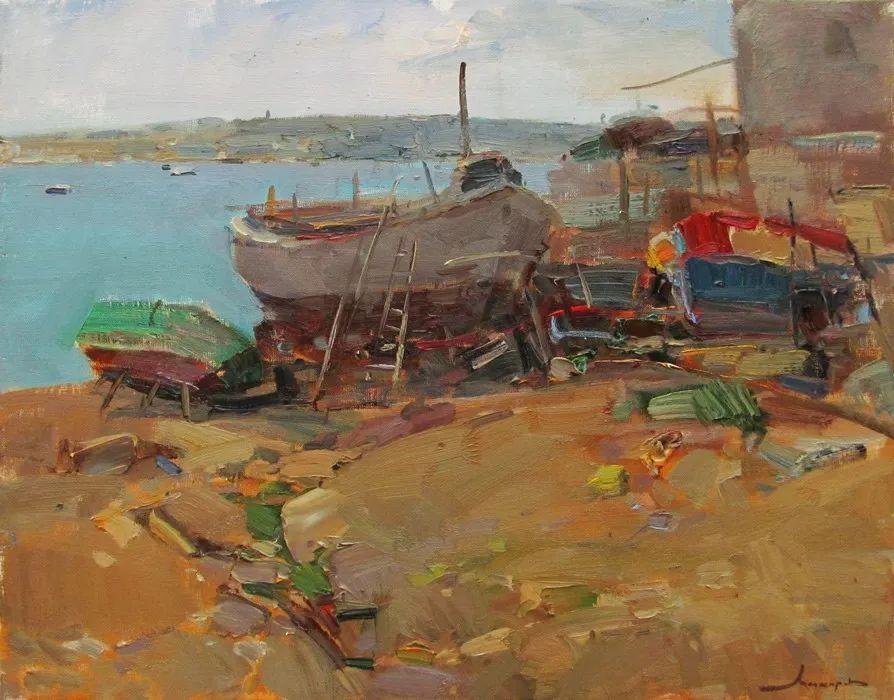 颜色与光:俄罗斯画家Vitaly Makarov作品选 插图131