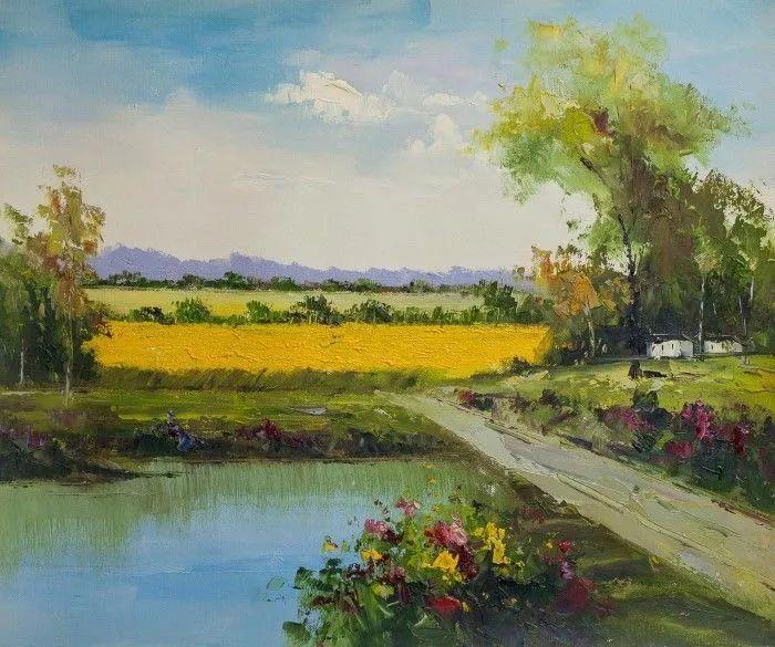 俄罗斯艺术家安德烈·萨拉巴林风景画选插图11