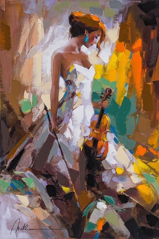 捕捉舞者的瞬间,色彩丰富表现力强!乌克兰画家阿纳托利·梅特兰插图1