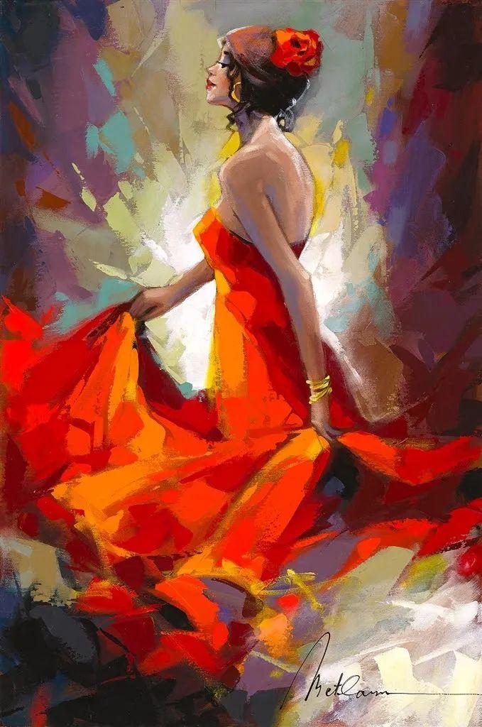 捕捉舞者的瞬间,色彩丰富表现力强!乌克兰画家阿纳托利·梅特兰插图3