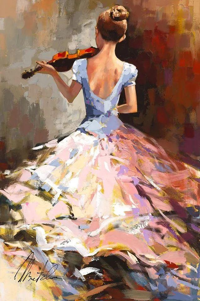 捕捉舞者的瞬间,色彩丰富表现力强!乌克兰画家阿纳托利·梅特兰插图11