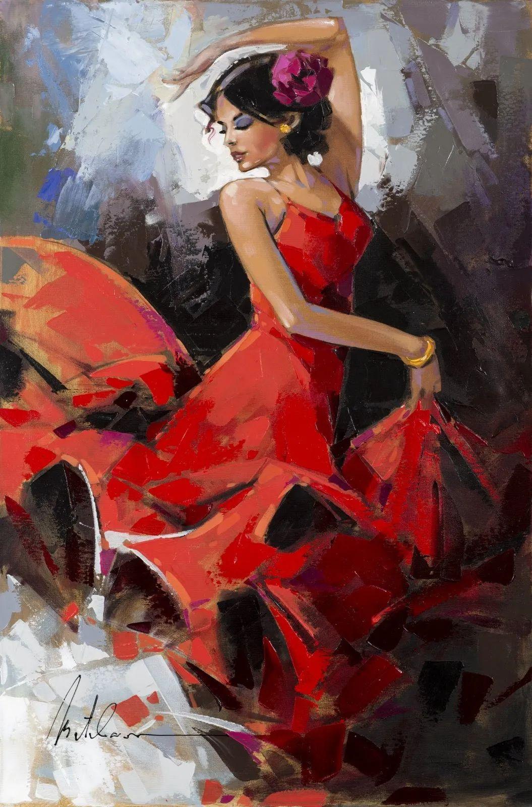 捕捉舞者的瞬间,色彩丰富表现力强!乌克兰画家阿纳托利·梅特兰插图23
