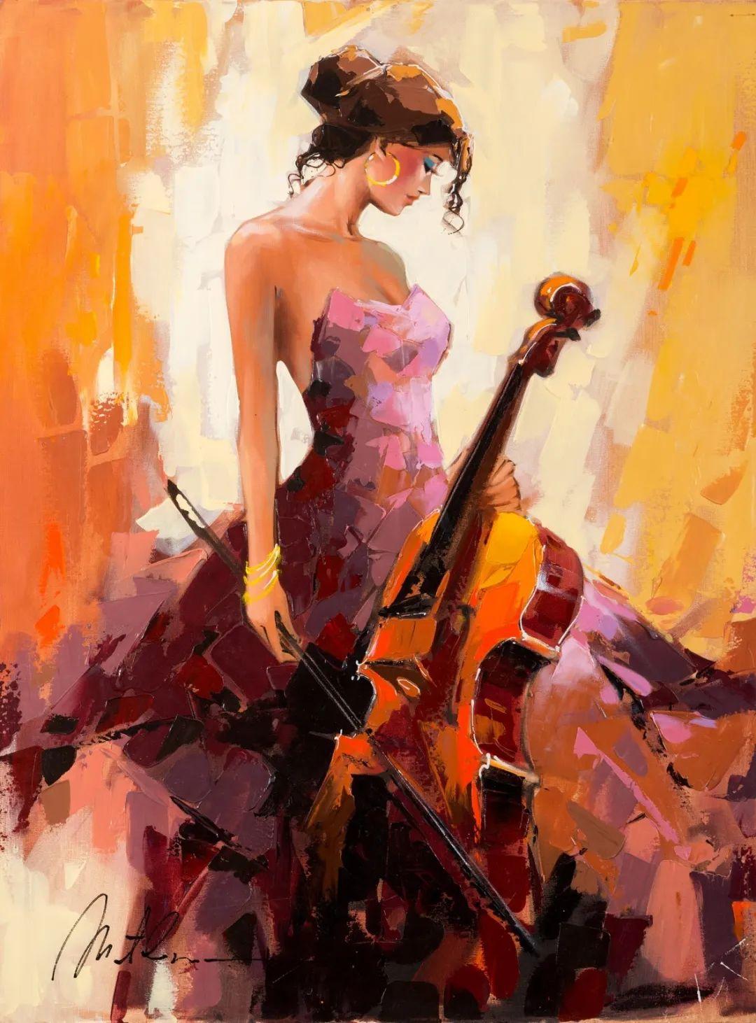 捕捉舞者的瞬间,色彩丰富表现力强!乌克兰画家阿纳托利·梅特兰插图25