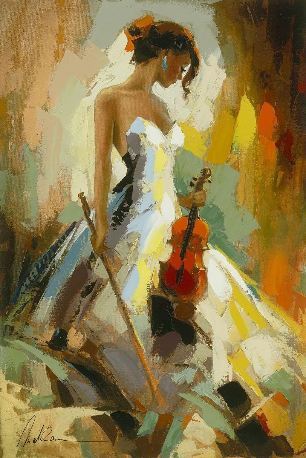 捕捉舞者的瞬间,色彩丰富表现力强!乌克兰画家阿纳托利·梅特兰插图43