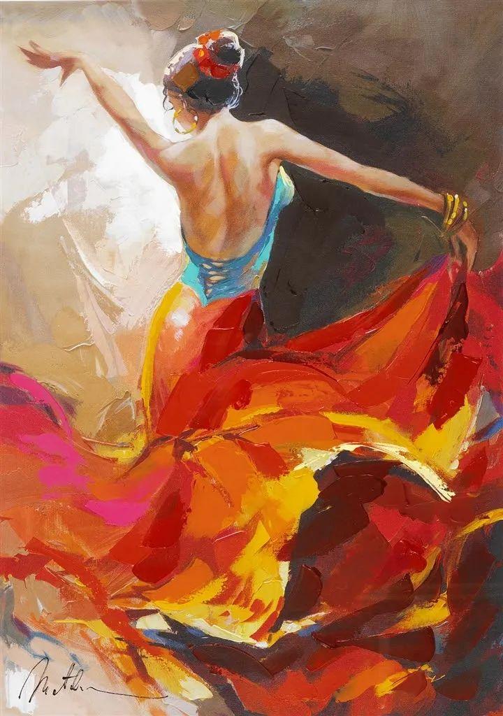 捕捉舞者的瞬间,色彩丰富表现力强!乌克兰画家阿纳托利·梅特兰插图49