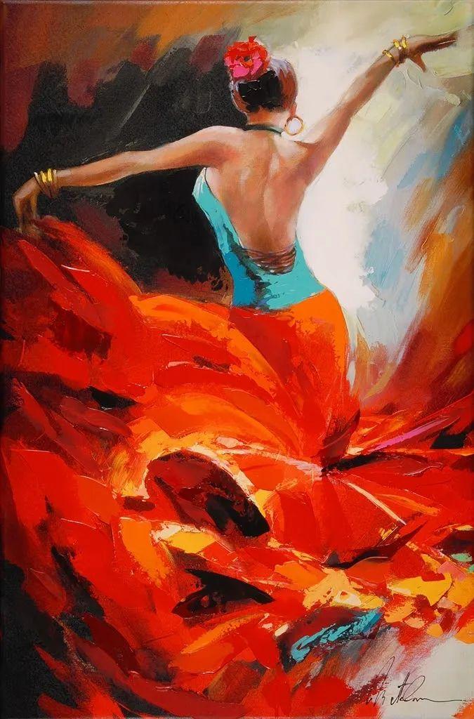 捕捉舞者的瞬间,色彩丰富表现力强!乌克兰画家阿纳托利·梅特兰插图51